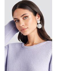 Mango Black,grey Evans Earrings - Gray