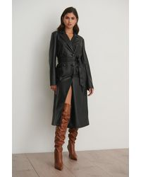 NA-KD Brown High Heel Overknee Boots