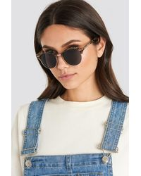 NA-KD Rounded Top Frame Sunglasses Brown