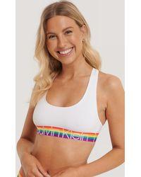 Calvin Klein Logo Unlined Bralette - Meerkleurig