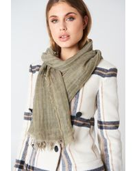 Filippa K - Cold Dyed Wool Scarf Khaki Green - Lyst