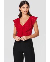 Rut&Circle - Lace Bodysuit - Lyst