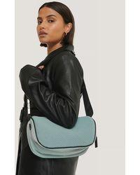 NA-KD Blue Structured Nylon Bag - Multicolor