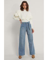 Trendyol Jeans Met Riemdetail - Wit