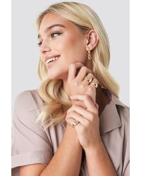 NA-KD Three-Pack Chunky Signet Rings - Multicolore