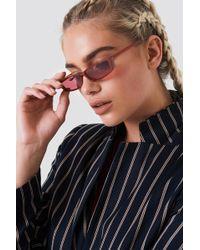 NA-KD - Wide Rectangle Sunglasses - Lyst