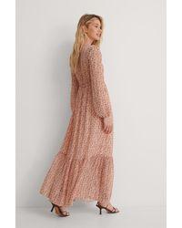 NA-KD Doorzichtige Maxi-jurk Met Trekkoord - Roze