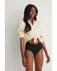 Trendyol Bikinibroekje Met Hoge Taille - Zwart