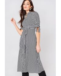 Mango - Striped Shirt Dress Natural White - Lyst