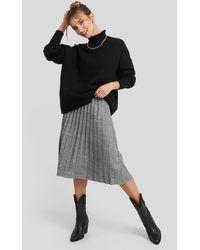 Trendyol Eyelash Pleated Knitted Skirt - Grijs