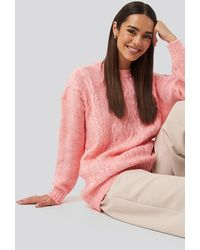Trendyol Cycling Collar Knitted Sweater - Roze