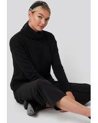 NA-KD Black Slouchy Turtle Neck Sweater