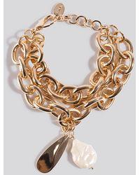 Mango Caroline Bracelet Gold - Metallic