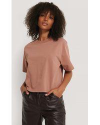 NA-KD Basic Oversize-T-Shirt - Pink