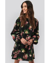 NA-KD - Trend Volume LS Mini Dress - Lyst