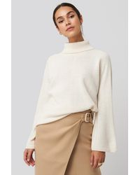 NA-KD - High Neck Wide Sleeve Sweater - Lyst