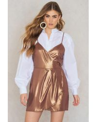 Motel Rocks - Florence Dress Bronze Shimmer - Lyst