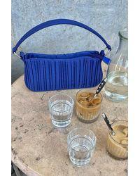 NA-KD Blue Rouched Baguette Bag