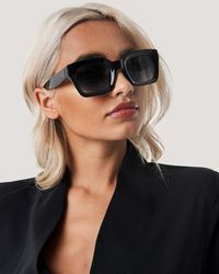 NA-KD Black Square Frame Sunglasses