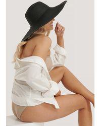 NA-KD Oversize Straw Hat - Noir