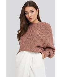 NA-KD - Batwing Knitted Sweater - Lyst