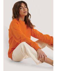 NA-KD Oversized Crewneck Sweatshirt - Oranje