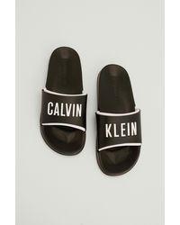 Calvin Klein Strandslippers - Zwart