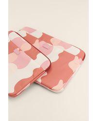 NA-KD Laptophoes Met Print - Roze