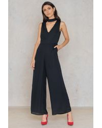 Lucca Couture | Mackenzie Faux Choker Jumpsuit | Lyst