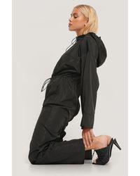 NA-KD Black Track Jumpsuit