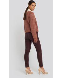 Trendyol Coated Normal Waist Jegging Jeans - Rood