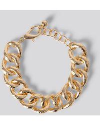 NA-KD Vintage Look Chain Bracelet - Metallic