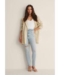 Calvin Klein Hochgeschnittene Skinny Knöchel-Jeans - Blau