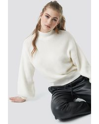 NA-KD - Big Sleeve Knitted Sweater - Lyst