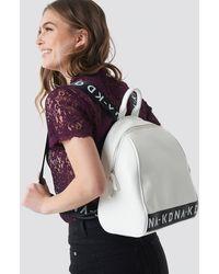 NA-KD White Backpack