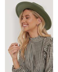 NA-KD Ribbon Fedora Hat - Groen