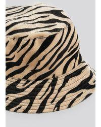 NA-KD Zebra Bucket Hat - Naturel