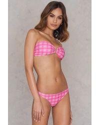 NA-KD - Bikini Panty Pink Print - Lyst