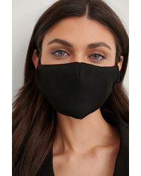 NA-KD Accessories 2-Pack Textured Face Masks - Schwarz
