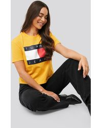 Tommy Hilfiger Tommy Flag Tee - Geel