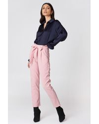 Glamorous Culotte Belted Trousers - Pink