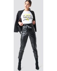 NA-KD - Trend Paperwaist Patent Leather Pants - Lyst