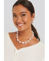 NA-KD Vintage Pearl Necklace - Wit