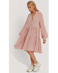 NA-KD Structure A-Line Dress - Rose