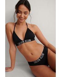 Calvin Klein Haut De Bikini Triangle - Noir