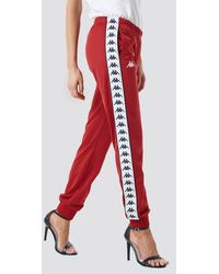 Kappa Red Wrastoria Banda Trousers