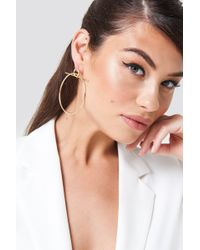 NA-KD - Double Circle Earring Gold - Lyst