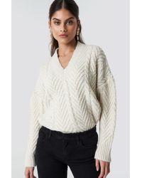 Mango - Toulouse Sweater Ecru - Lyst