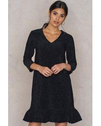 NA-KD - Bottom Frill Sleeve Dress - Lyst