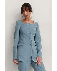 NA-KD Trend Blazer - Blauw